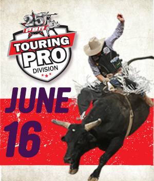 PBR Bull riding competition banner