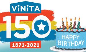 Vinita 150 Birthday banner